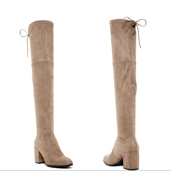 7763e8d60f7 Steve Madden Slayer Boots in Taupe